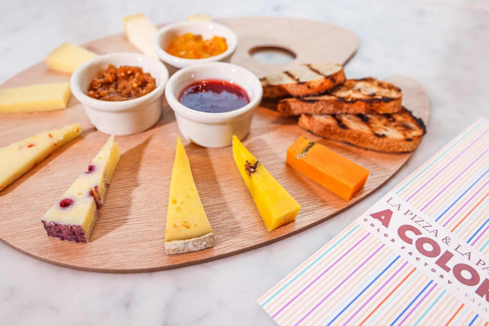 Cheese board from Eataly NYC Downtown Color Factory menu