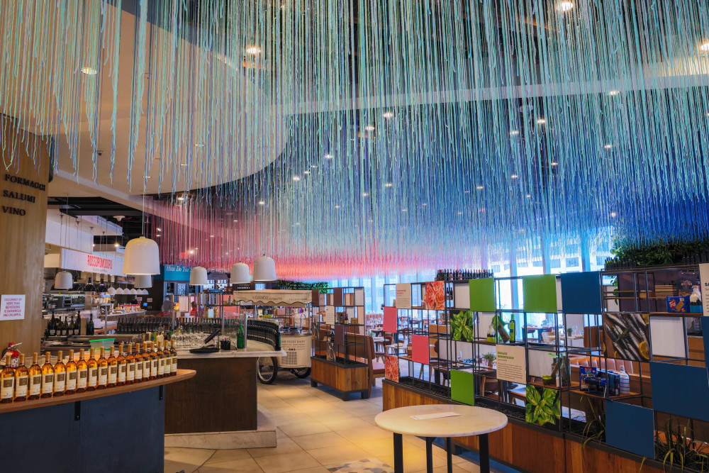 Eataly and Color Factory restaurant installation
