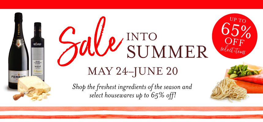 Sale into Summer at Eataly Boston