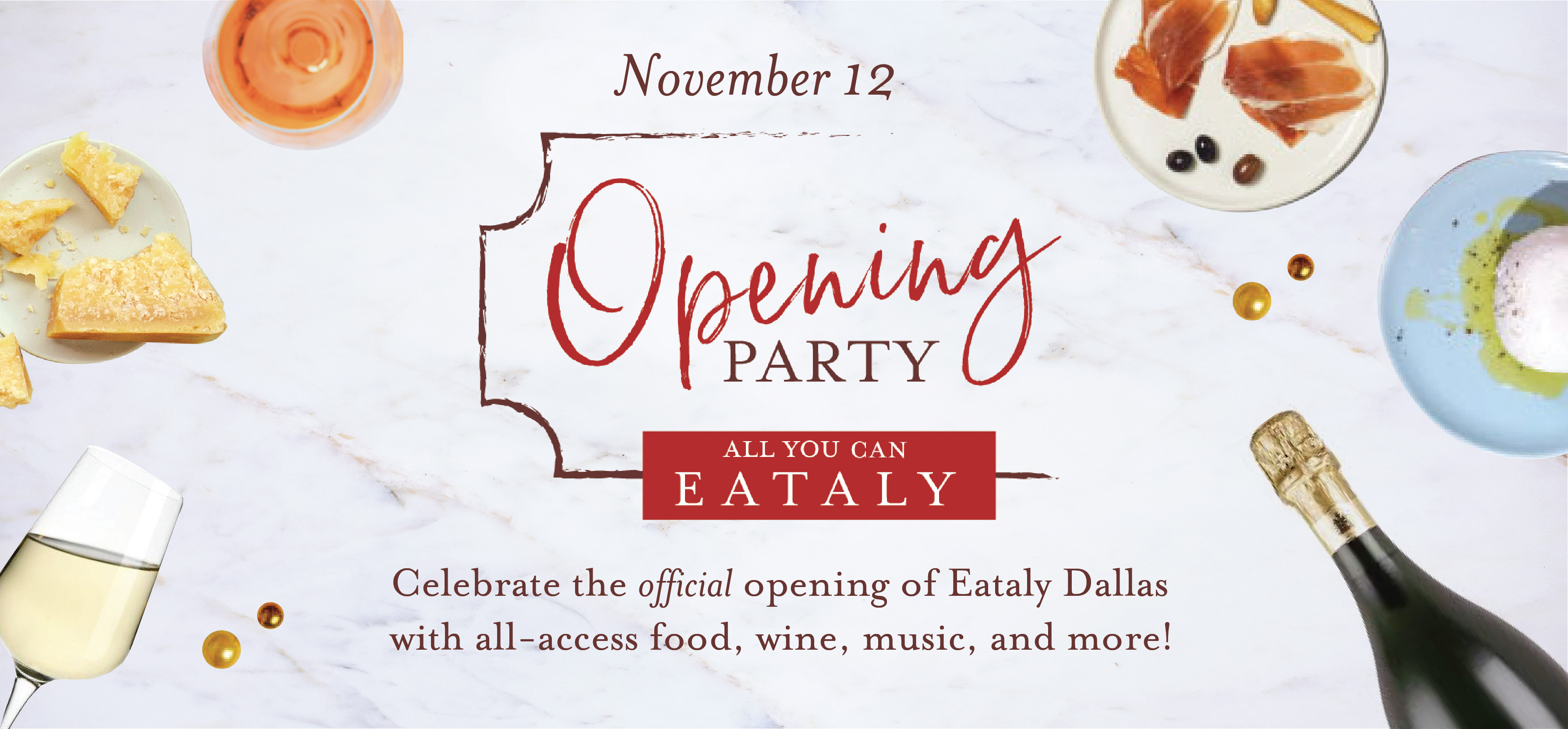 Party with us... Italian Style at Eataly Opening Party: All You Can Eataly!